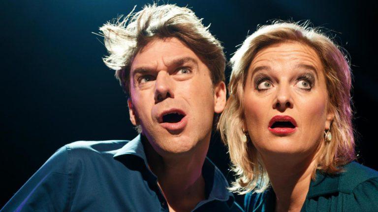 Nederland,Amsterdam, 2016 Vrijdag vs Sandifort, Remko Vrijdag en Martine Sandifort, Hekwerk theaterproducties Foto: Bob Bronshoff
